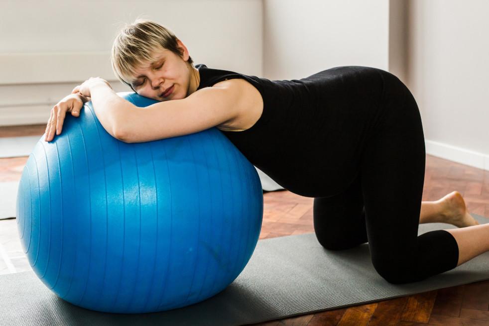 Resting over Birth Ball